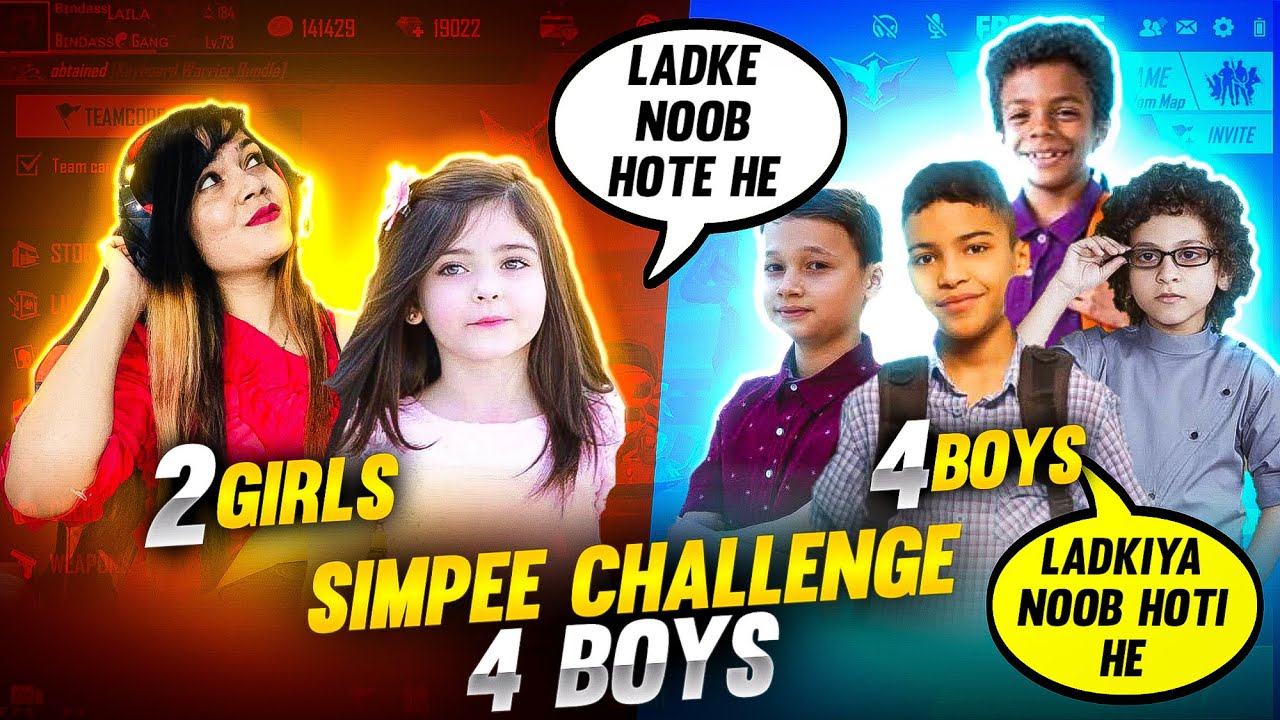 Simpee Challenge 4 Boys After This Happened 😭😭 || Garena Free Fire || Bindass Laila