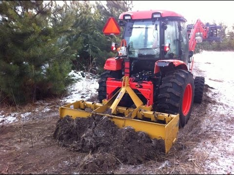 Ride Along in a Kioti NX Series Cab Tractor: Grading a new driveway