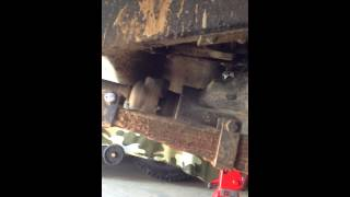 Willys jeep with Indenor diesel engine - running and axel try out