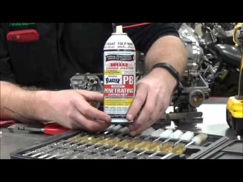 02 The most overlooked spot on carburetor rebuilds and cleaning! Under the Float Valve!