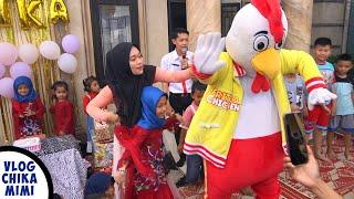 Selamat Ulang Tahun Chika Seru Banget Ada Badut Ayam Jago Joget Lucu di Ulang Tahun Chika yg ke 8thn