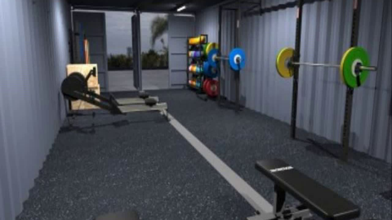 Shipping container home gym boat builder s incredible