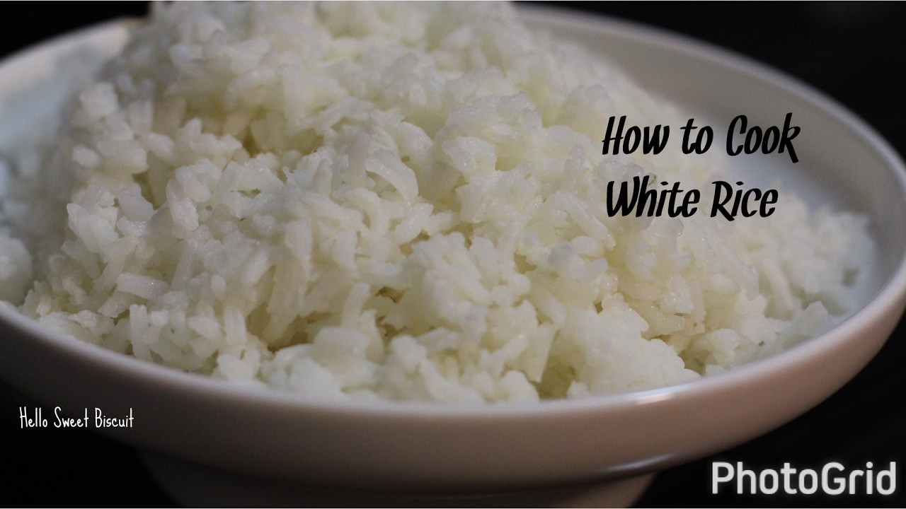 How To Cook White Rice ( Plain Rice)  Hello Sweet Biscuit