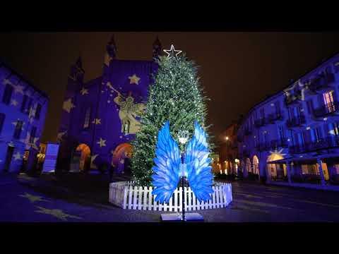 Egea illumina il Natale di Alba con una proiezione a 360°