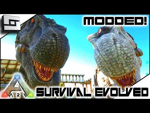 MODDED ARK: Survival Evolved - SUPER TREX BREEDING! E26 ( Gameplay )