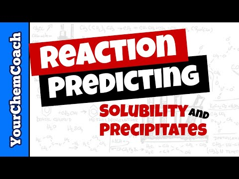 Solubility Rules to Predict Precipitation Reactions