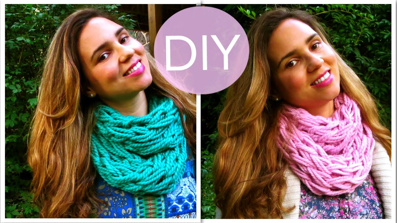 DIY Make an Infinity Scarf in 30 Minutes! (Arm Knitting ...