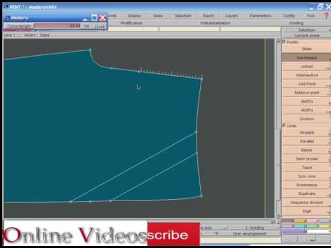LECTRA MODARIS BANGLA TUTORIAL PART 3 How to create a pattern AND EXTRAC PATTERN