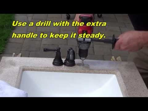 How to make a faucet hole bigger (larger)