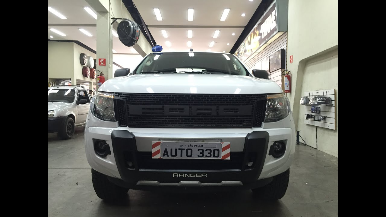 Ford Ranger instalando Grade Raptor - Auto330 Acessórios ...