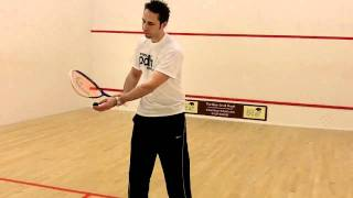 Squash tips - How to hit a forehand drop shot when playing squash