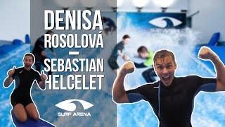 Denisa Rosolová a Adam Sebastian Helcelet v Surf Areně