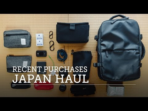 INCASE EO TRAVEL TECH BACKPACK + Other Purchases — Massive Japan Haul
