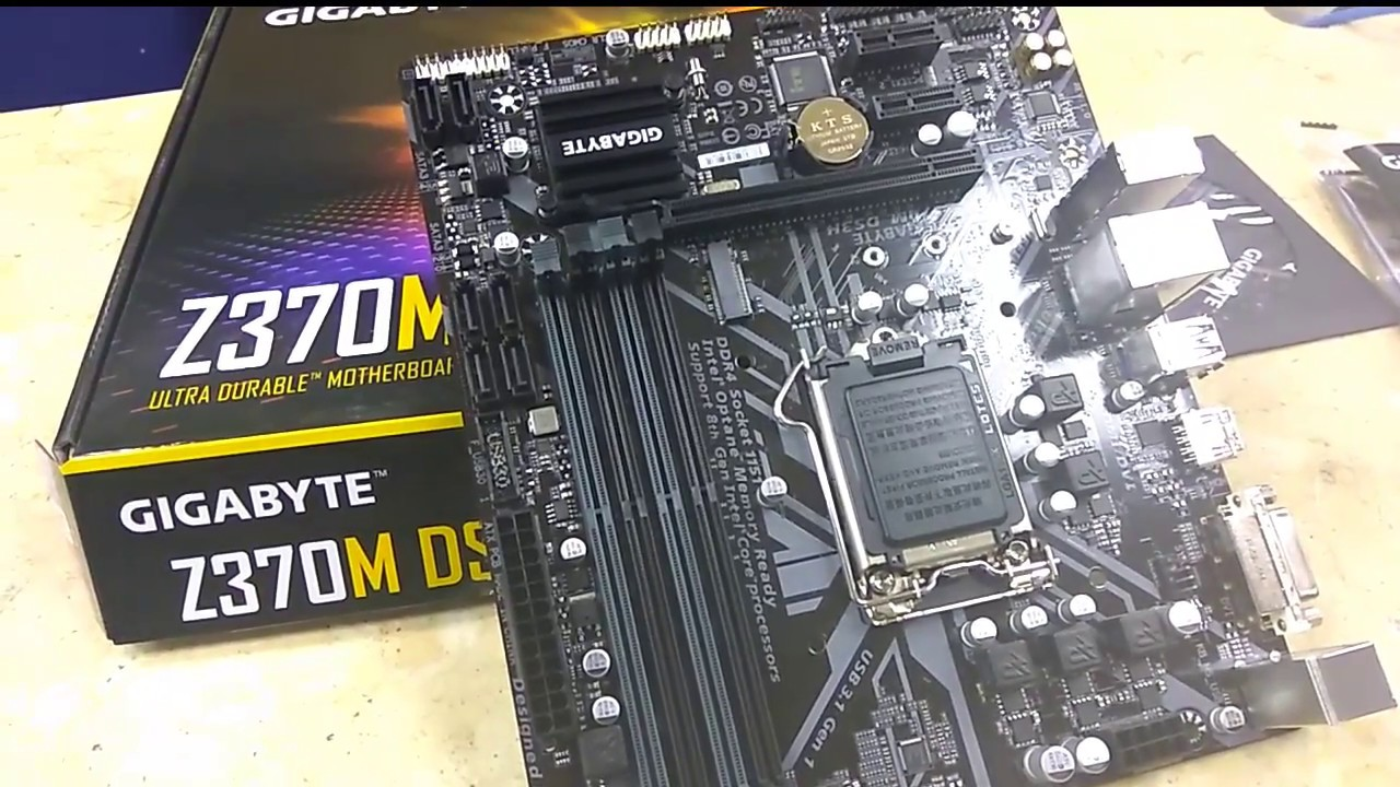 Gigabyte z370m ds3h micro atx Unboxing   Tech Land