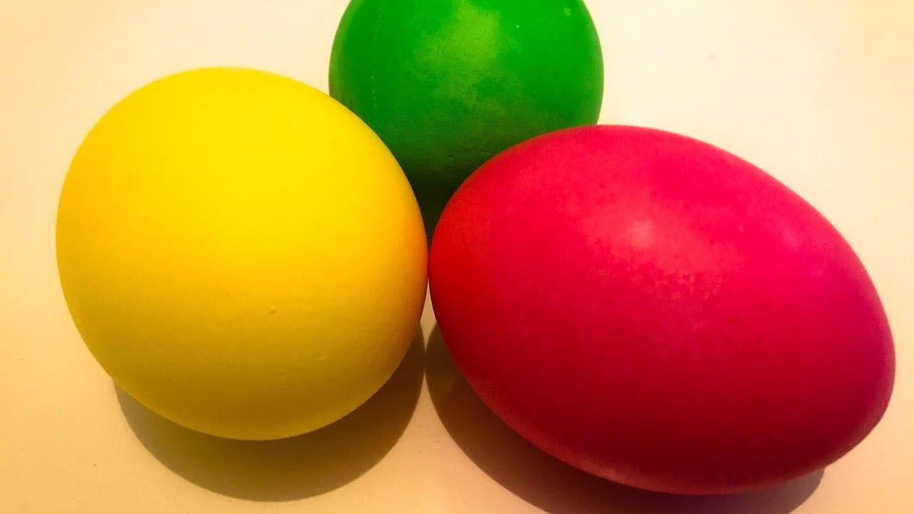 Yumurta Boyama Yumurta Boyadık Boyama Deneyi Yaptık Youtube