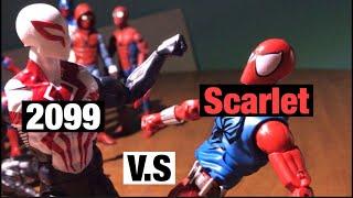 2099 Spider-Man v.s Scarlet Spider-Man | Marvel Legends Stop-Motion