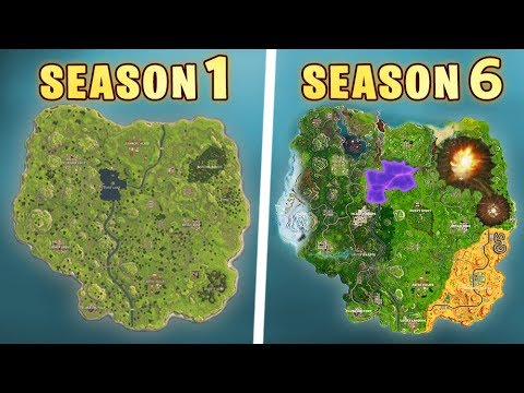 Evolution Of The Entire Fortnite Map Youtube