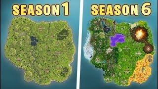 Evolution of the entire Fortnite map