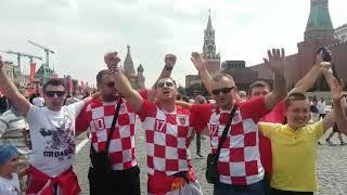 Hrvati drže Moskvu budnom i dan uoči velikog finala Hrvatske i Francuske
