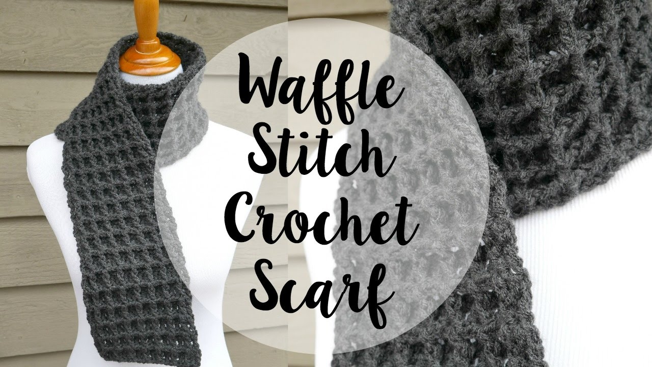 How to crochet the waffle stitch scarf episode 345 youtube bankloansurffo Gallery