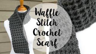 How To Crochet the Waffle Stitch Scarf, ...