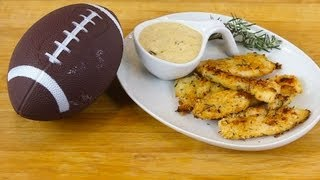 Baked Chicken Strips With Onion Dip Recipe - Super Bowl For Kids