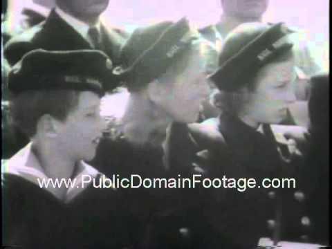 Princess Martha of Norway in New York dedicates Norwegian naval training station 1943