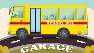 School bus Car Garage Baby Tv Garage Video For Kids Learning Video For Children