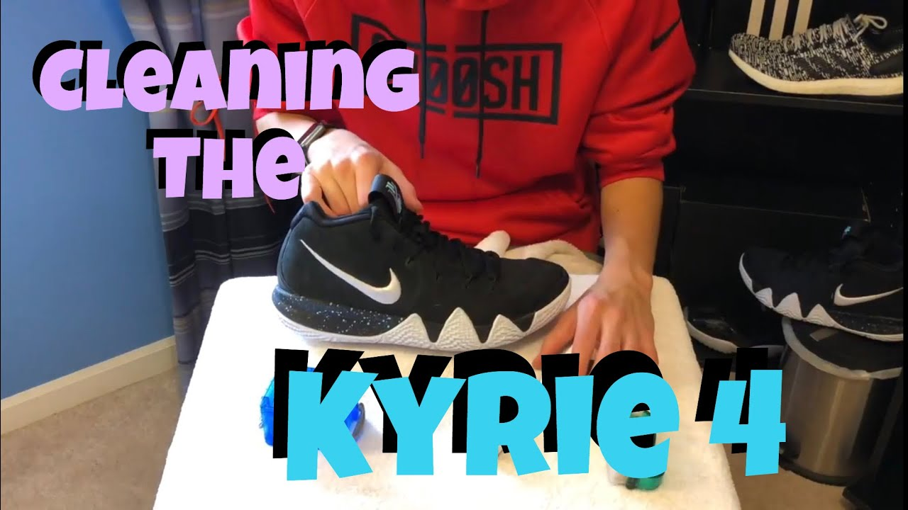 How to Clean Kyrie 4s - YouTube