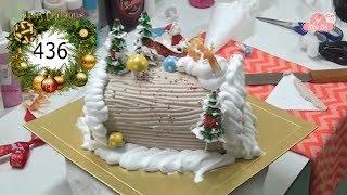 chocolate cake decorating bettercreme vanilla (436) Học Làm Bánh Kem Đơn Giản Đẹp - giáng Sinh (436)