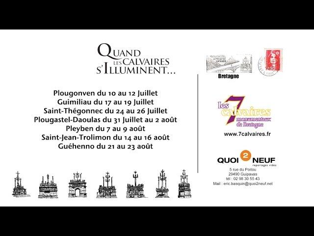 Les 7 calvaires monumentaux de Bretagne spectacle son et lumiére