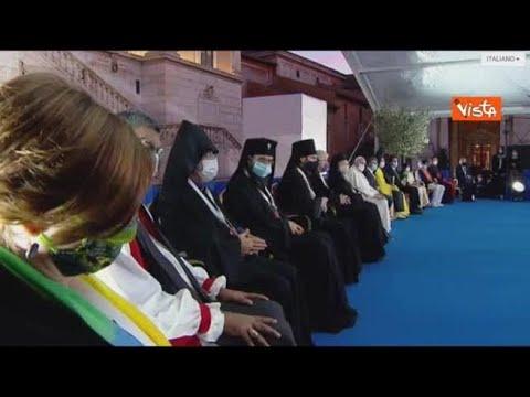 Corriere della Sera: Papa e leader religiosi in Campidoglio, il minuto di silenzio per le vittime di Covid e di guerre