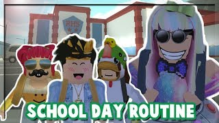 Bloxburg Mother of 3 Children: New School Day Routine! PART 10 (Roblox Roleplay)