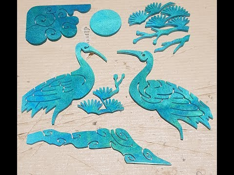 Epoxy resin art -  Jade art (에폭시 레진 아트, 비취색, 민화)