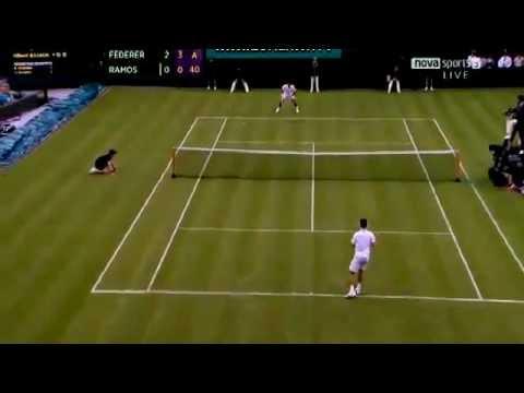 Wibledon 2012 Roger Federer   Albert Ramos hightlights