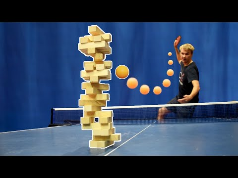 JENGA Ping Pong Trick Shots I Pongfinity