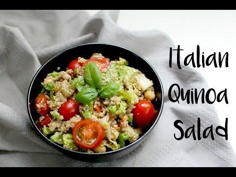 Italian Quinoa Salad (vegan & gluten free) | easy vegan lunch recipe