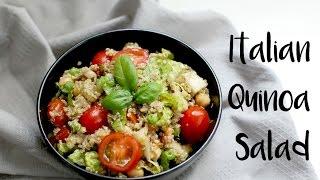 Italian Quinoa Salad (vegan & gluten free)   easy vegan lunch recipe