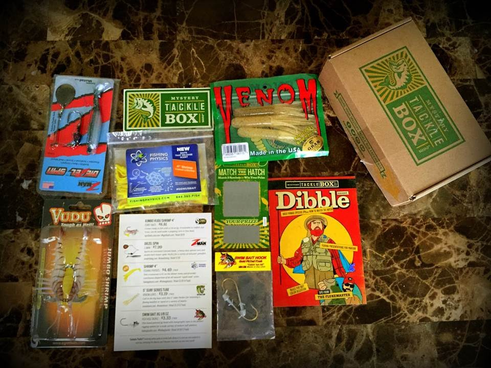 Unboxing the saltwater mystery tackle box for july 2015 for Monthly fishing box