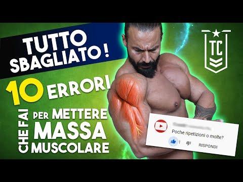 TUTTO SBAGLIATO!!! 10 ERRORI CHE FAI PER METTERE MASSA muscolare
