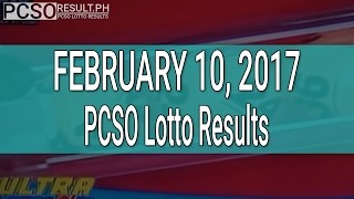 PCSO Lotto Results February 10, 2017 (6/58, 6/45, 4D, Swertres & EZ2)