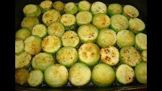 Хрустящие кабачки, в духовке, вегетарианское блюдо
