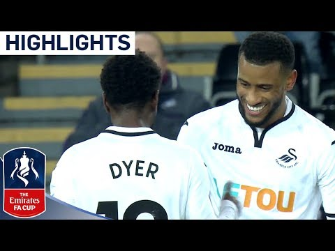 Swansea 8 - 1 Notts County | Great Strikes From Carroll And Abraham! |  Emirates FA Cup 2017/18
