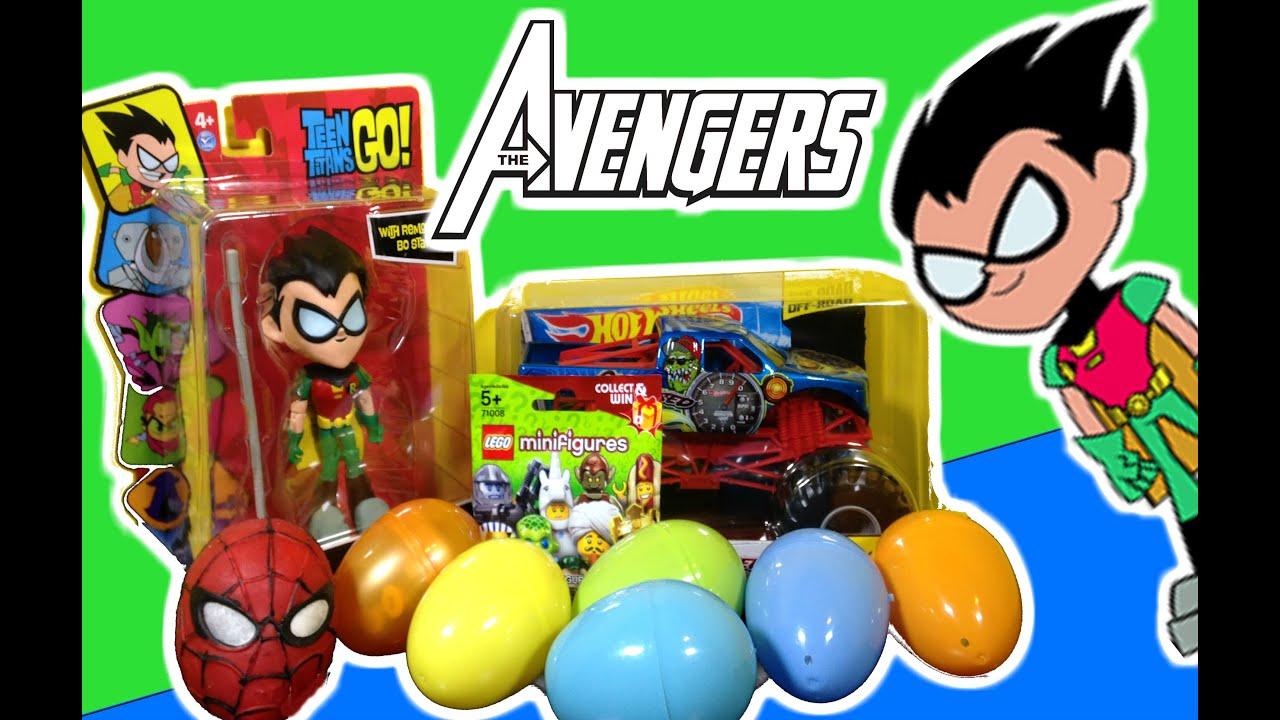teen titans go robin unboxing spider man hulk lego. Black Bedroom Furniture Sets. Home Design Ideas