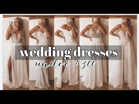 Wedding Dresses Under 300 Try On Haul Youtube