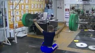Маклаков Тимур, 14 лет, собст вес 54 Рывок 60 кг