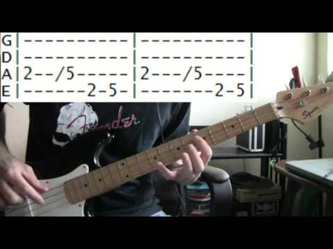 bass guitar lesson Offspring come out and play tab