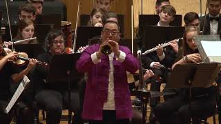 Suona master Zhusong Du performs with the MTSU Symphony Orchestra. ...