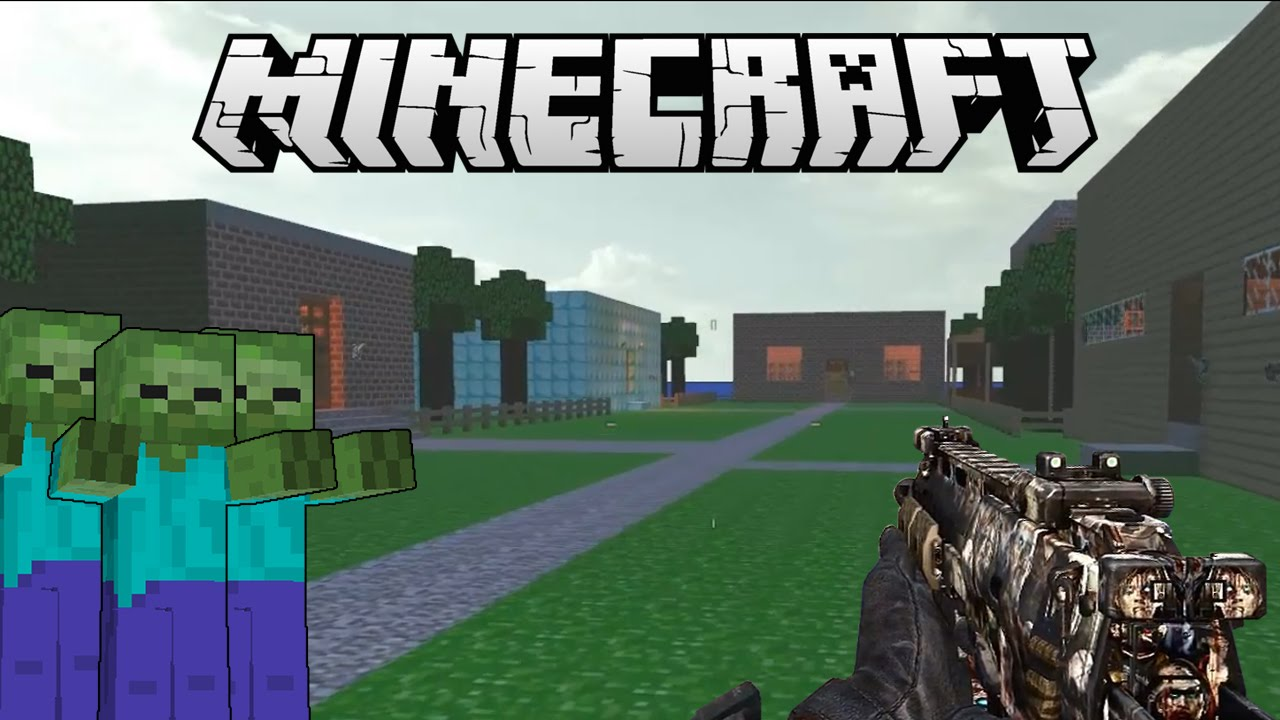 MAPA DE MINECRAFT   Zombies CoD WaW: Custom Map   YouTube