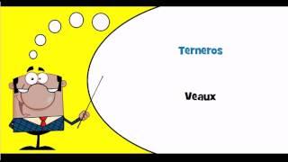 J'apprends l'espagnol #Thème = Bétail, cheptel et petits animaux